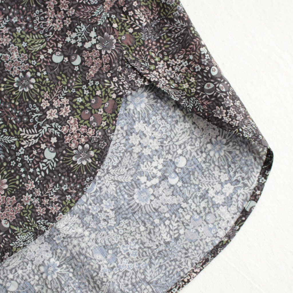 YAECA | ヤエカ BUTTON SHIRT #ELDERBERRY/LIBERTY [97151]