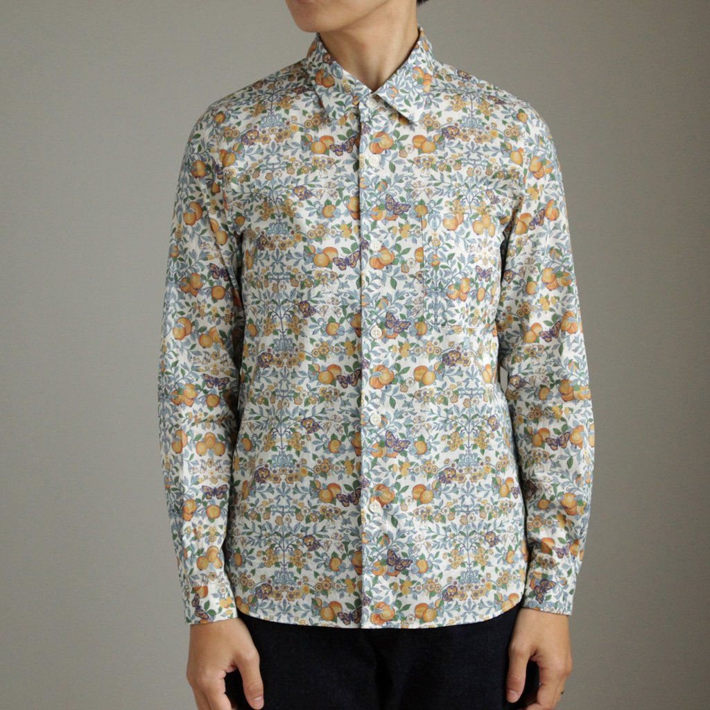 YAECA | ヤエカ BUTTON SHIRT #ORCHARD/LIBERTY [97151]