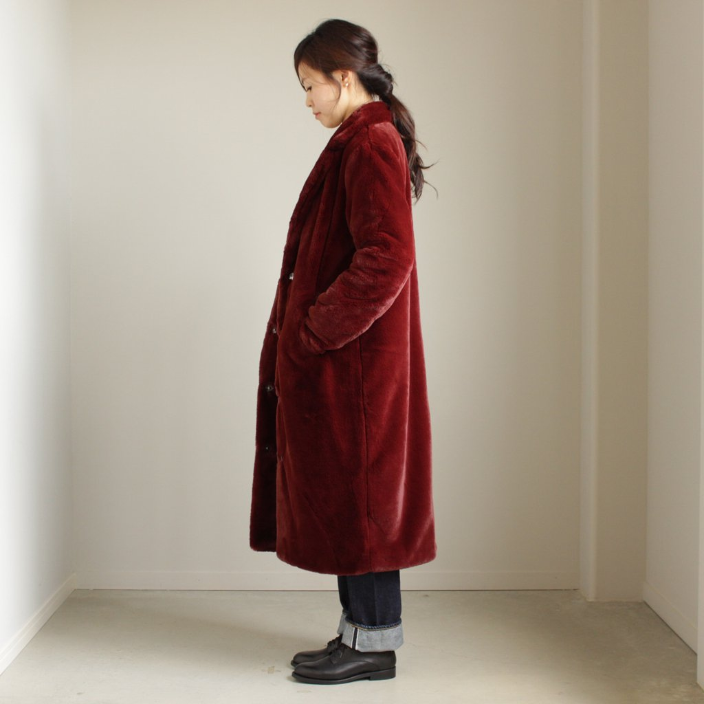 セレクト - ふく AVA LONG COAT #WINE [700063697]