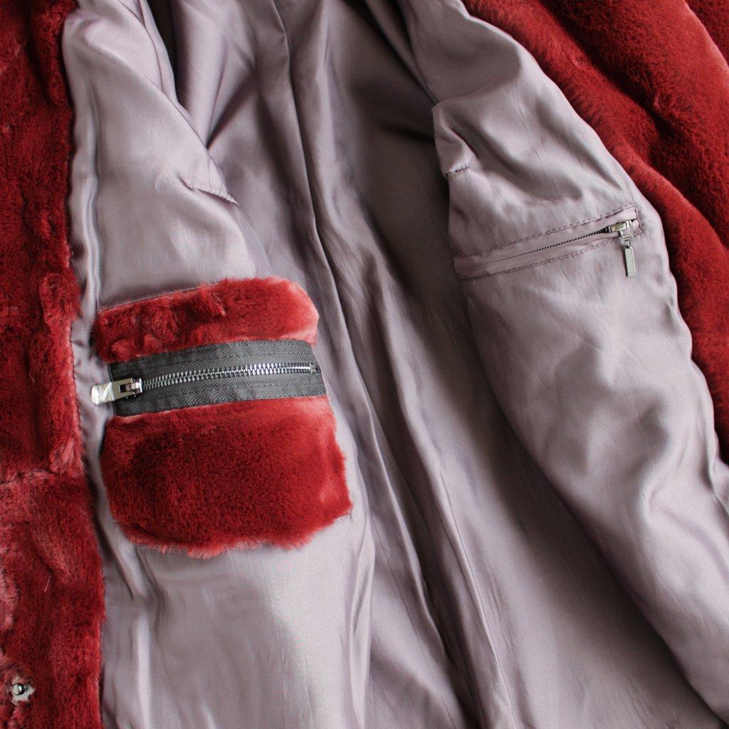 AVA LONG COAT #WINE [700063697]