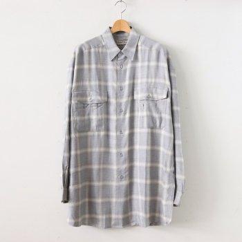 SHIRT #gray check [gj-shirt-001] _ gourmet jeans | グルメジーンズ