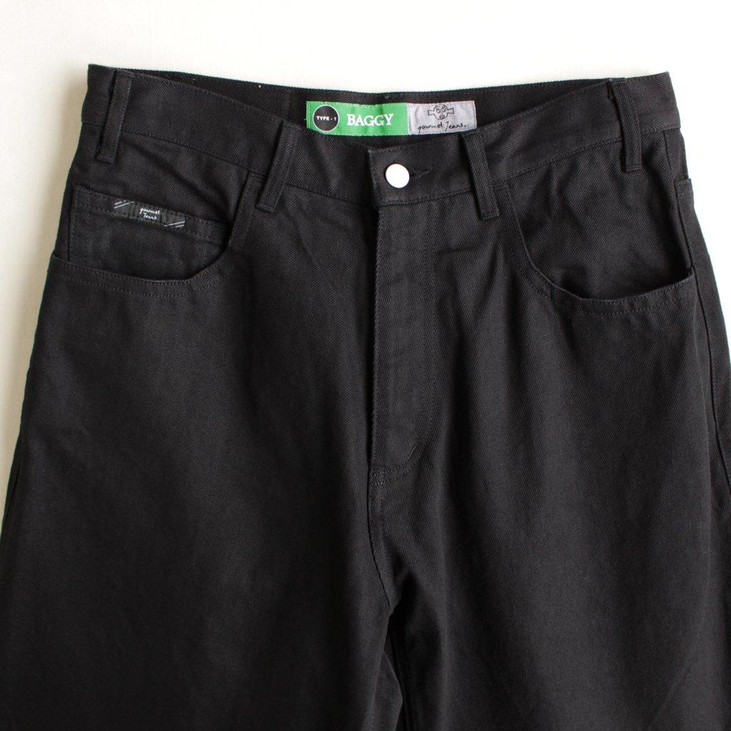 BAGGY #BLACK DENIM [gj-type01-baggy]