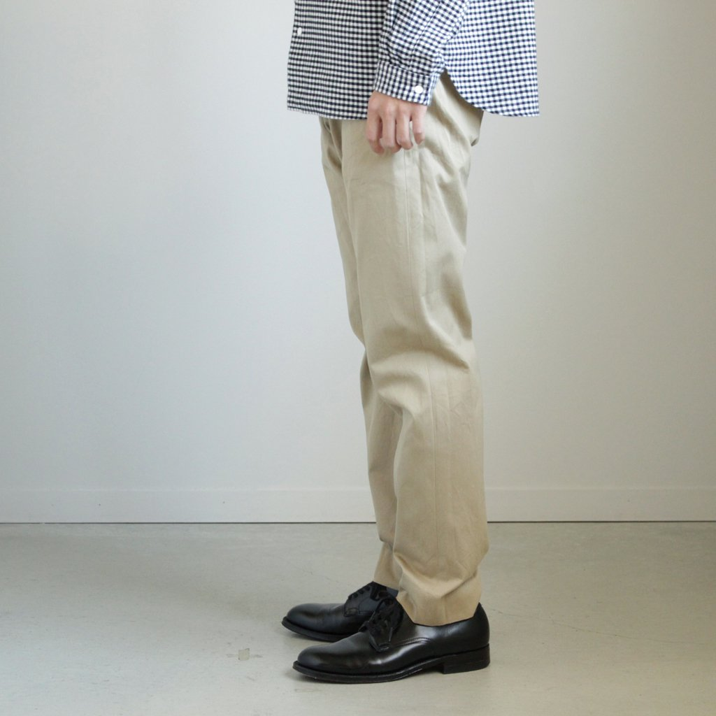 YAECA | ヤエカ CHINO CLOTH PANTS - STANDARD #KHAKI [17653]