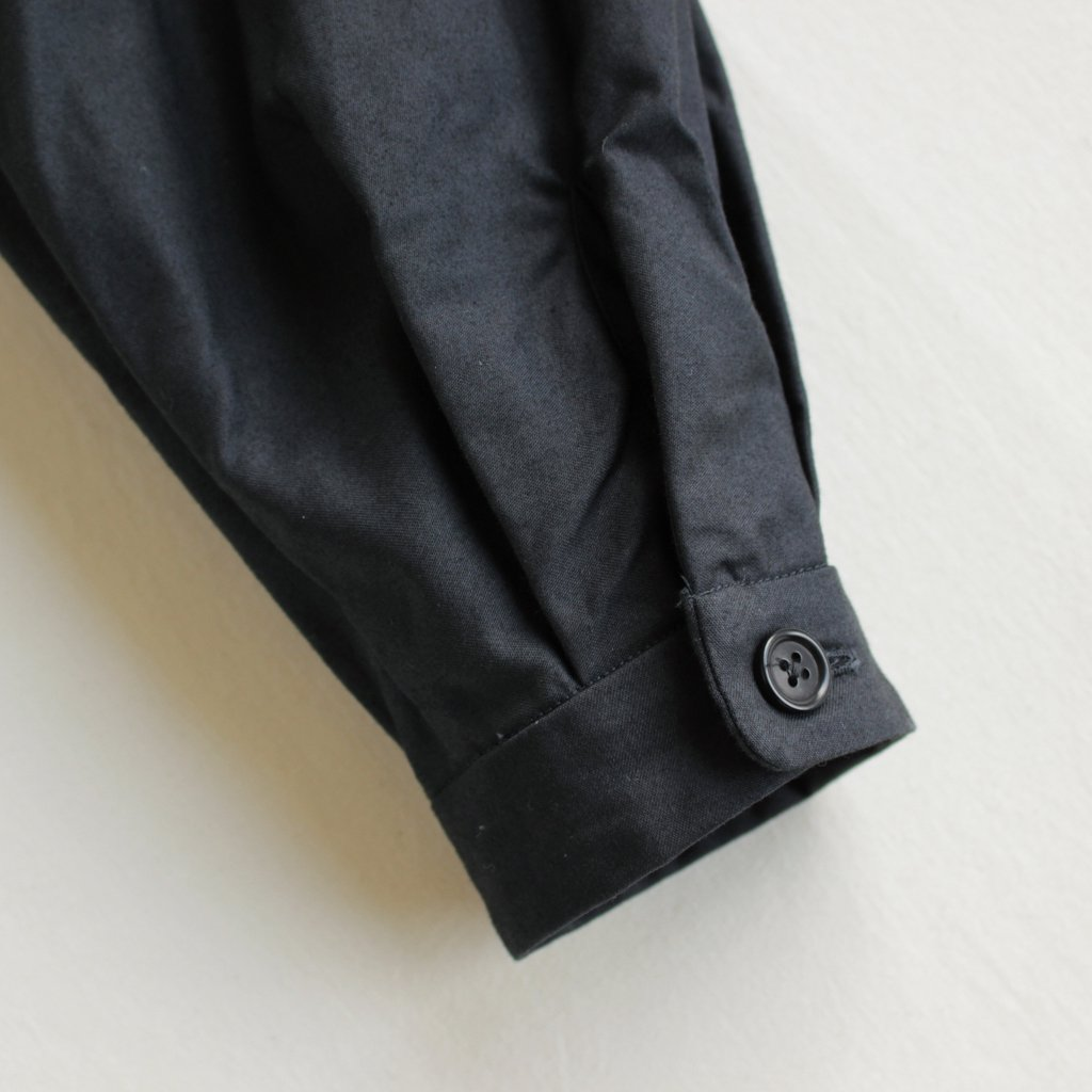 YAECA | ヤエカ WORK SHIRT DRESS #BLACK [97155]