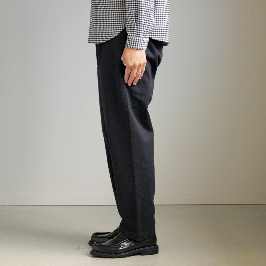 YAECA   ヤエカ CHINO CLOTH PANTS - WIDE TAPARED #D.NAVY [67652]