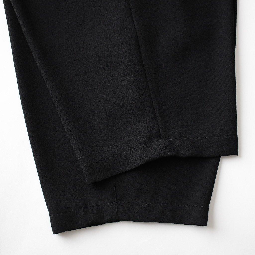 NWTPT|アセテート&ポリエステルライトクレープダブルクロス ワイドテーパードパンツ #BLACK [S8-NC093PF]