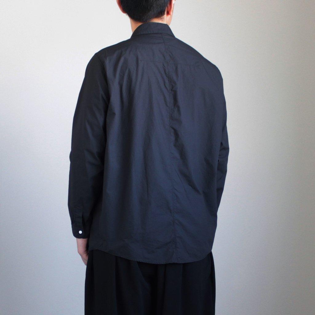 NO CONTROL AIR   ノーコントロールエアー NCCSH 60/-コンパクトコットンライトタイプライター スモールカラーシャツ #BLACK [S8-NC014SF]