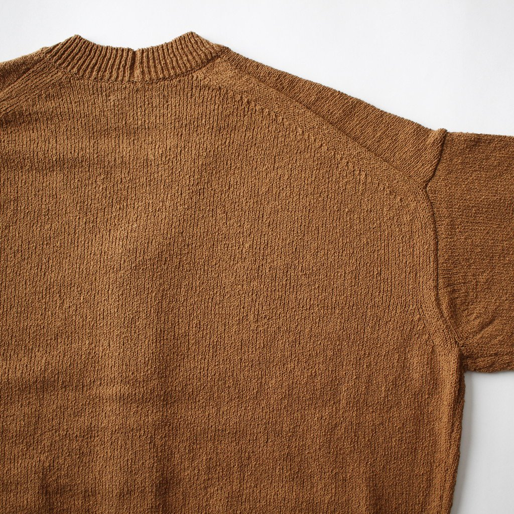 CORKSCREW YARN KNIT CARDIGAN #LIGHT BROWN [A8SC01KK]