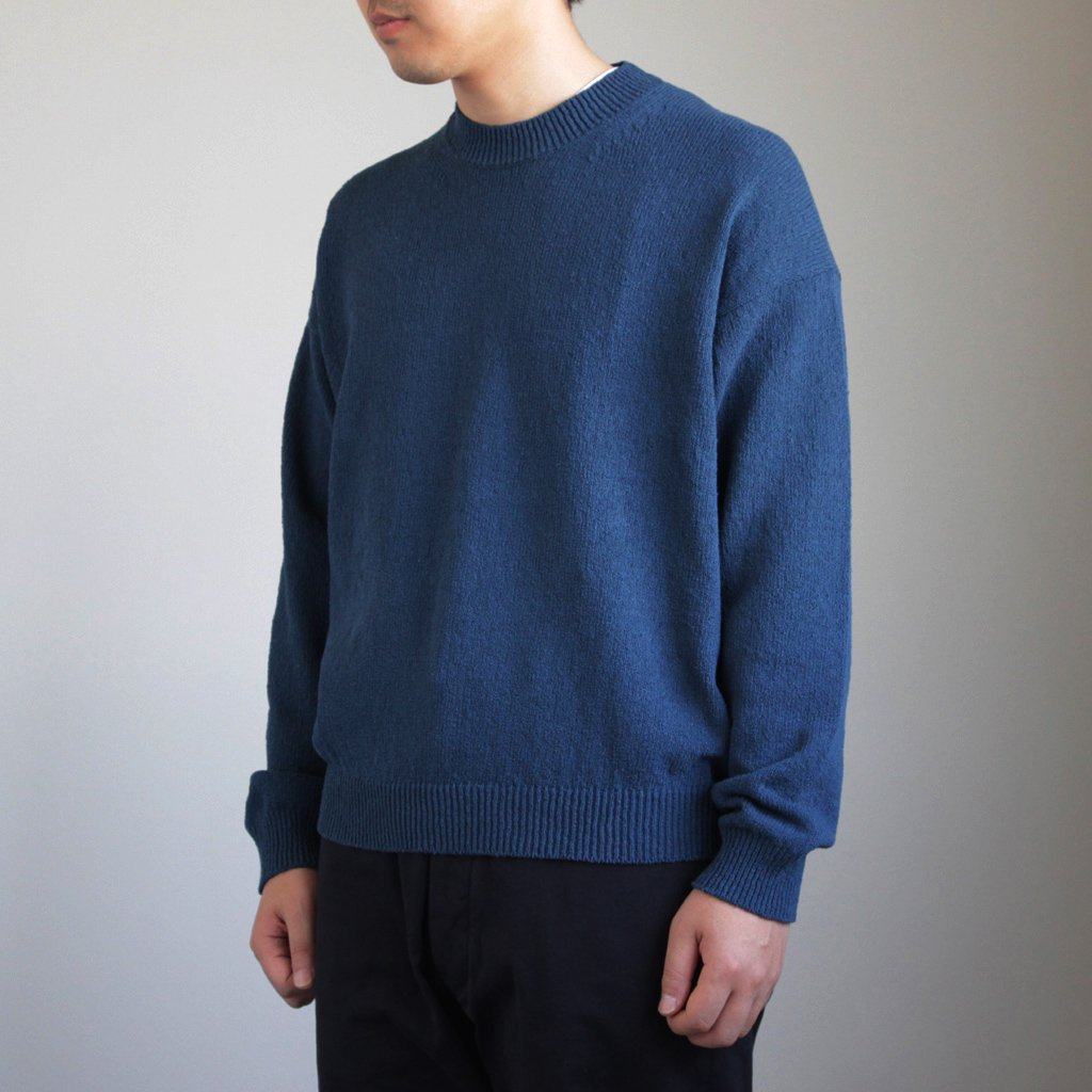 AURALEE | オーラリー CORKSCREW YARN KNIT P/O #BLUE [A8SP02KK]