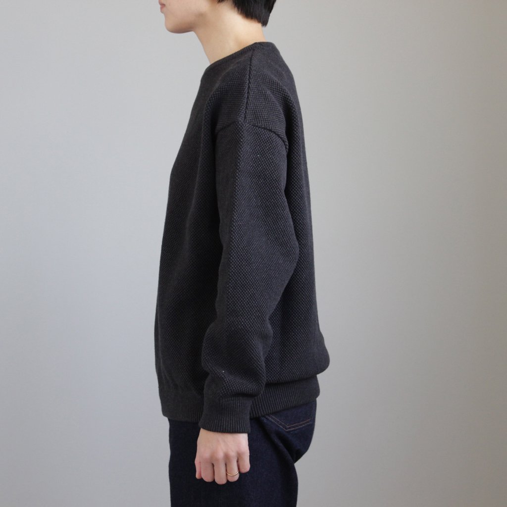 crepuscule | クレプスキュール MOSS STITCH L/S SWEAT #C.GRAY [1801-001W]