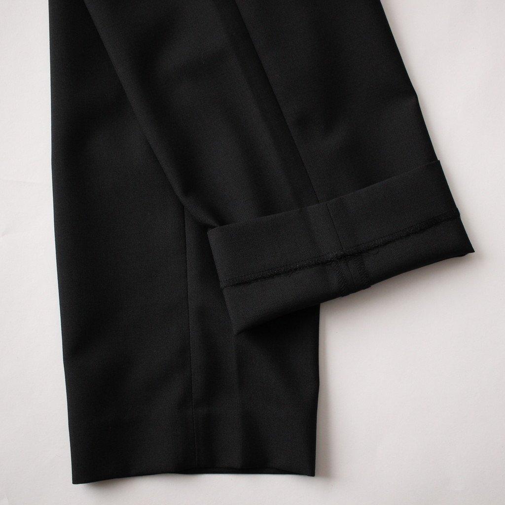 ウールエステルホップサックトラウザーズ #BLACK [HA-P007-051]