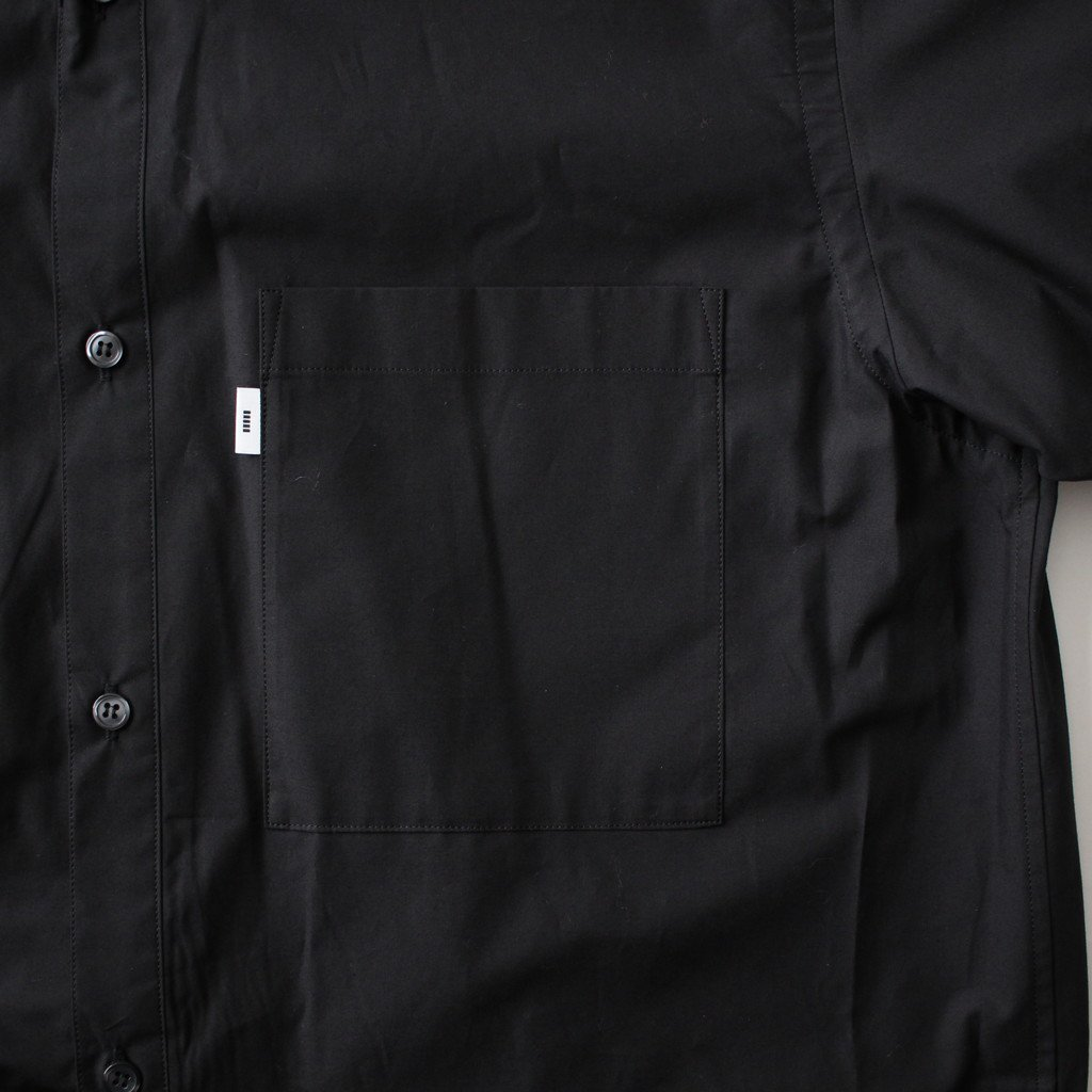 TYPEWRITER S/S BOX SHIRT #BLACK [GM181-50080B]