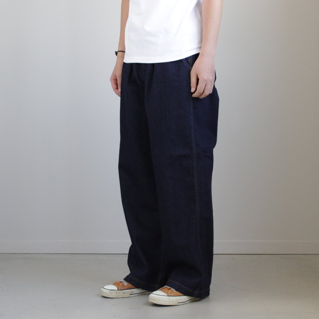 DENIM BAGGY PANT ID #INDIGO [GM181-40047B]