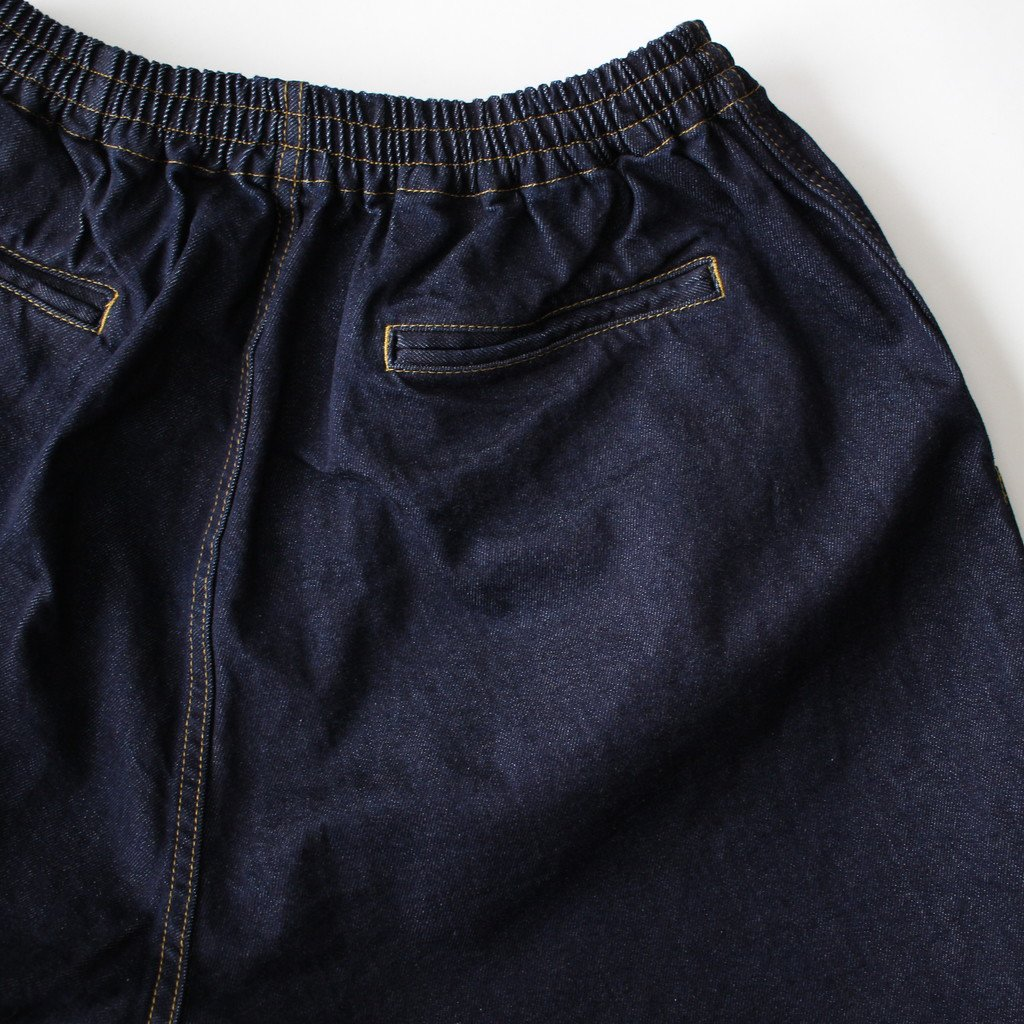 DENIM BAGGY SHORTS ID #INDIGO [GM181-40088B]