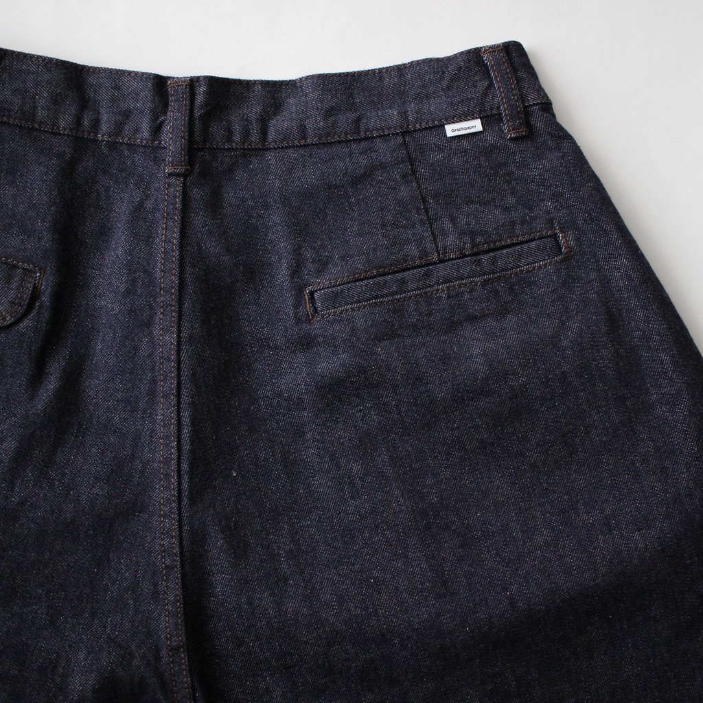 Graphpaper | グラフペーパー COLORFAST DENIM TWO TUCK PANT #INDOGO [GM181-40044B]