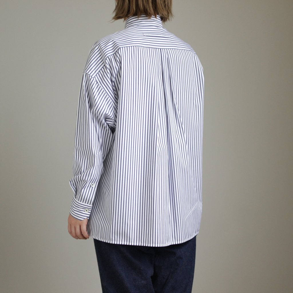 スクエアビッグシャツ #NAVY LONDON STRIPE [TAHS-300-01]