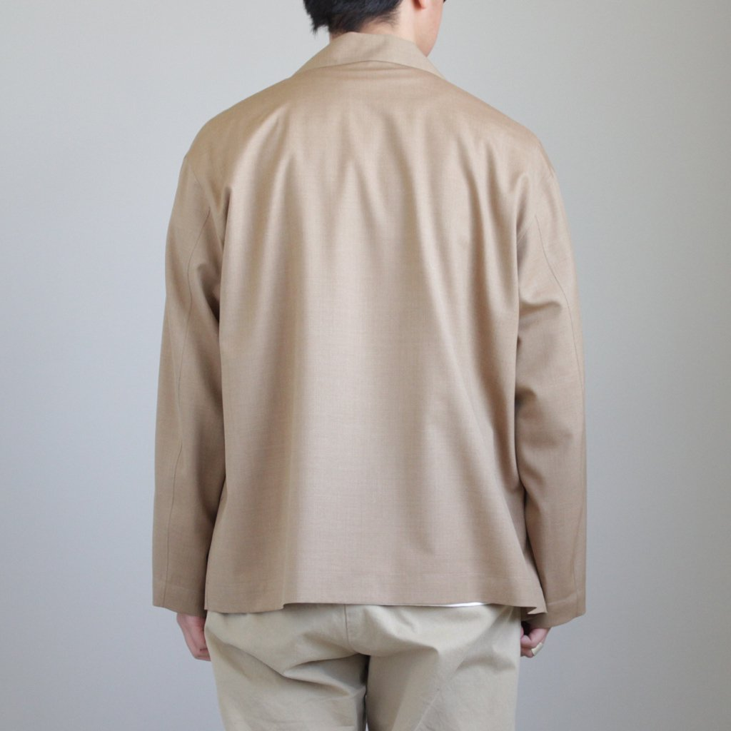 AURALEE | オーラリー WOOL SILK TROPICAL SHIRTS JACKET #BEIGE CHAMBRAY [A8SB01WT]