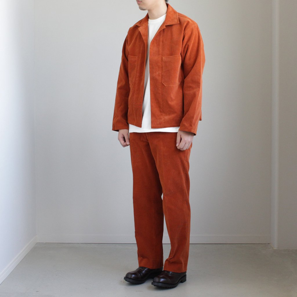 WASHED CORDUROY SHIRTS JACKET #BRICK RED [A8SS01NC]