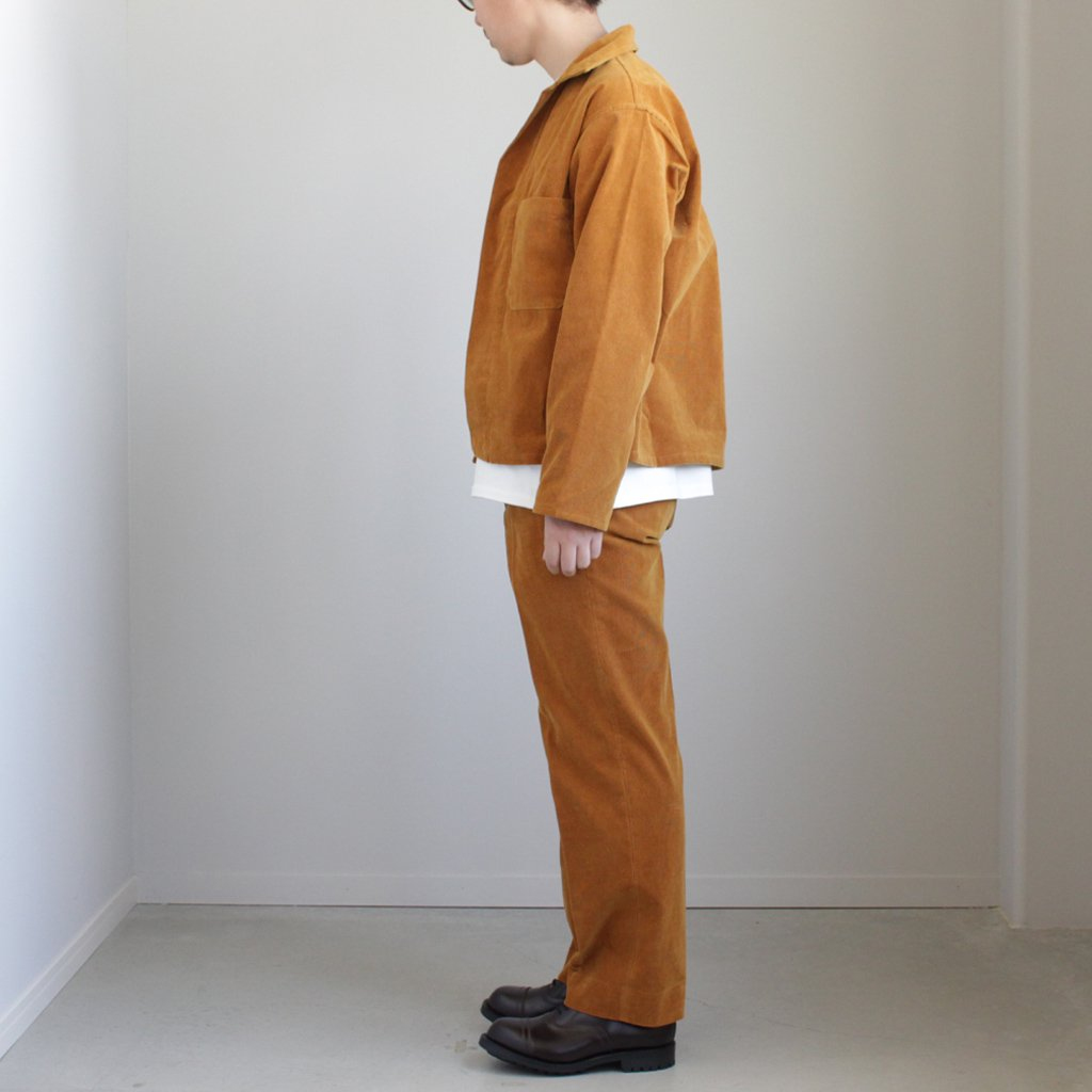 AURALEE | オーラリー WASHED CORDUROY SHIRTS JACKET #CAMEL BROWN [A8SS01NC]