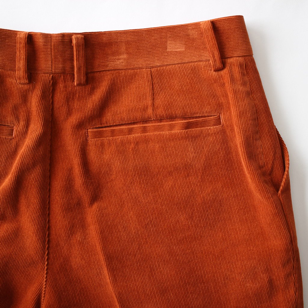 AURALEE | オーラリー WASHED CORDUROY SLACKS #BRICK RED [A8SP02NC]