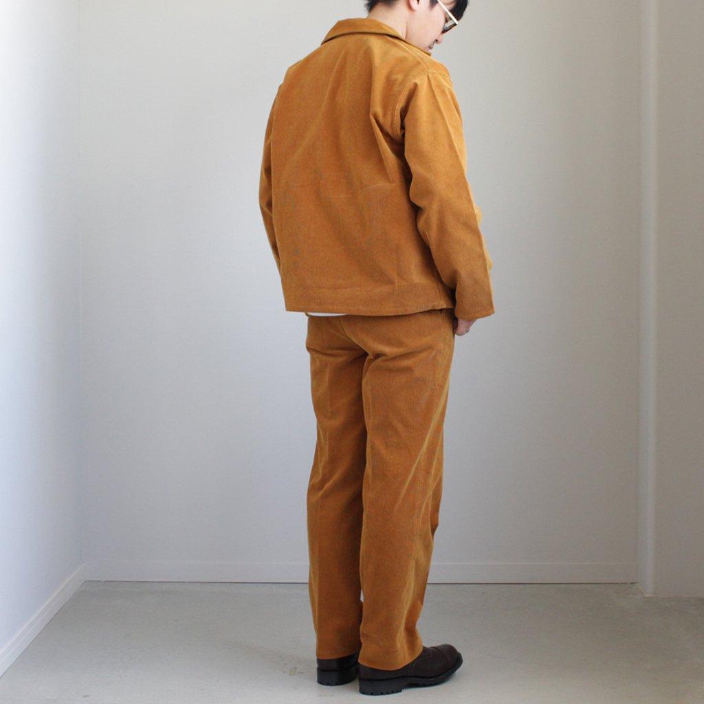 AURALEE | オーラリー WASHED CORDUROY SLACKS #CAMEL BROWN [A8SP02NC]