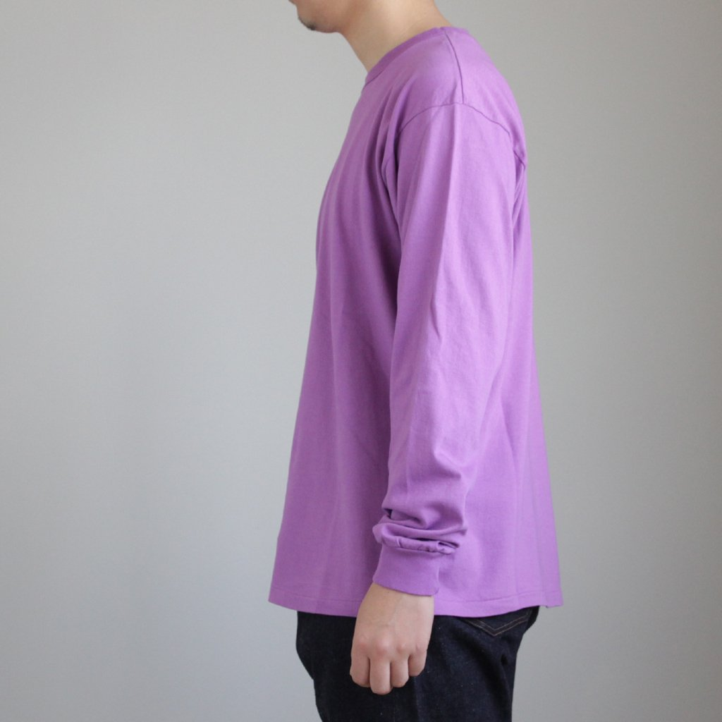 AURALEE | オーラリー SOFT CORD L/S TEE #PURPLE [A8SP01MT]