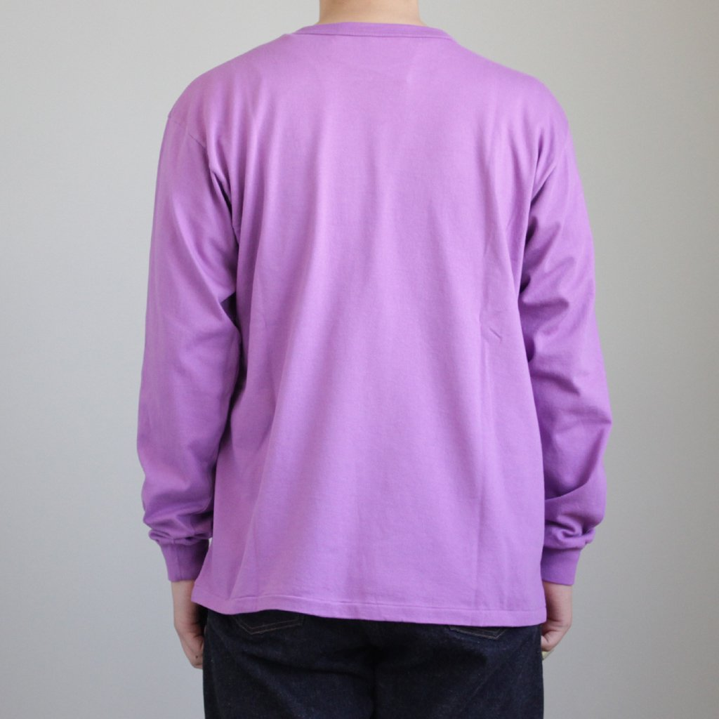 SOFT CORD L/S TEE #PURPLE [A8SP01MT]