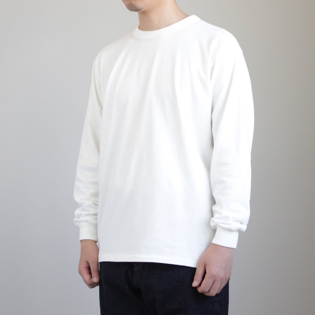 SOFT CORD L/S TEE #WHITE [A8SP01MT]