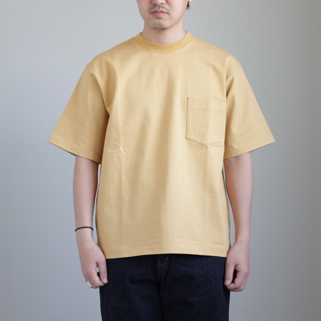 STAND-UP TEE #CAMEL YELLOW [A8ST01SU]
