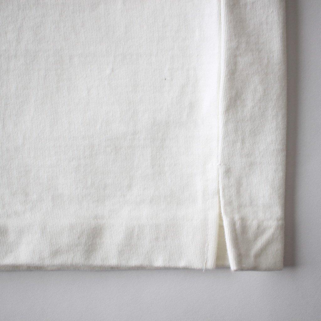 AURALEE | オーラリー STAND-UP TEE #WHITE [A8ST01SU]