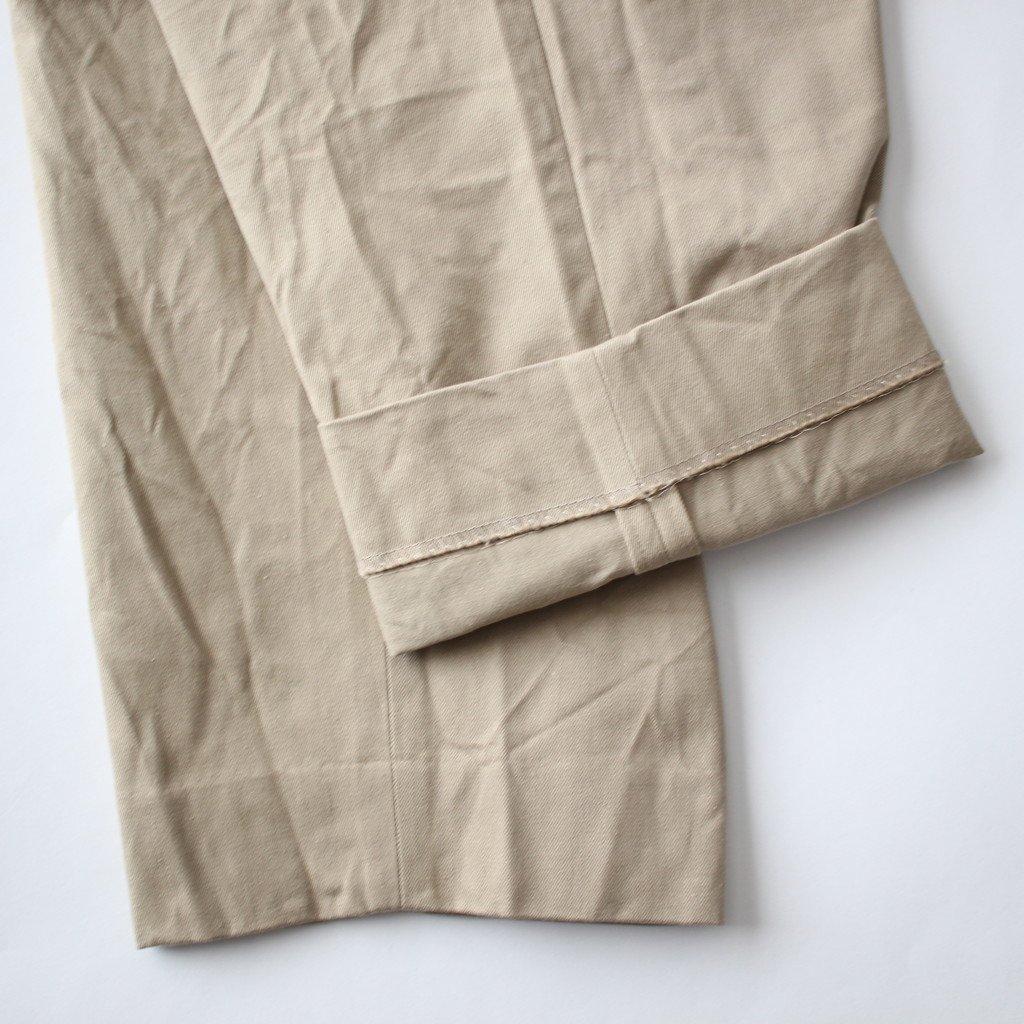 YAECA   ヤエカ CHINO CLOTH PANTS TAC TAPERD #KHAKI [18603]