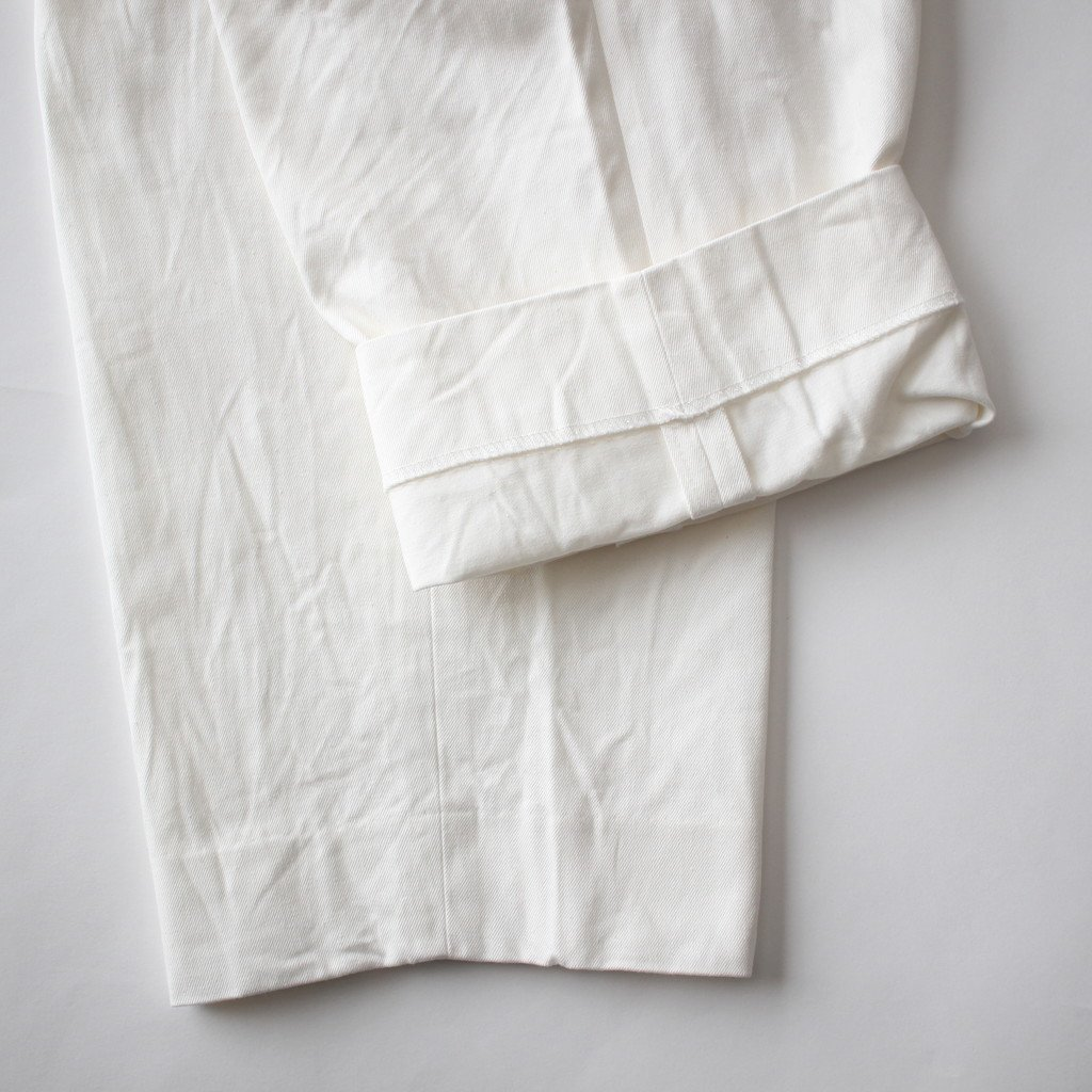 CHINO CLOTH PANTS TAC TAPERD #WHITE [18603]