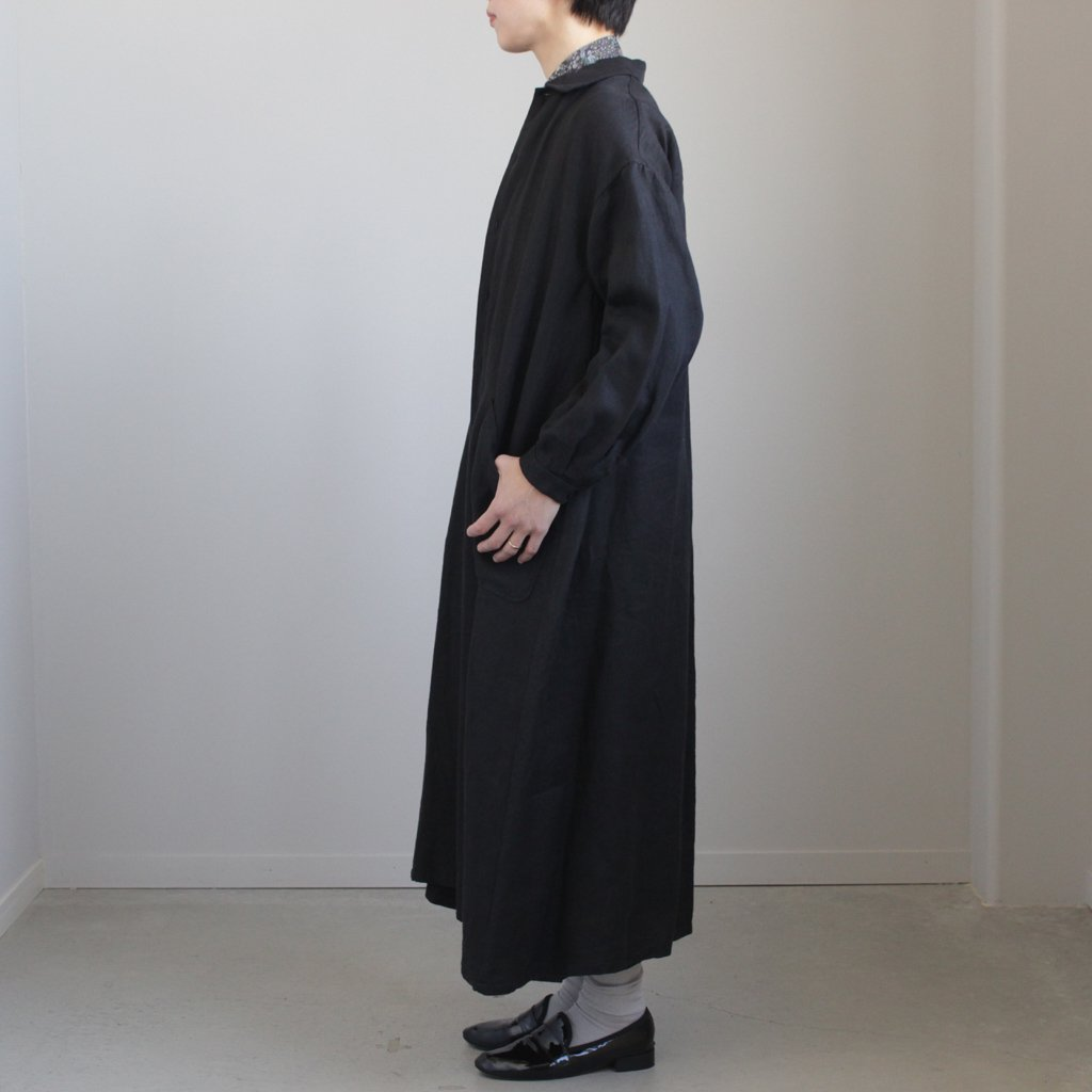 YAECA | ヤエカ WORK SHIRT DRESS #BLACK [98102]