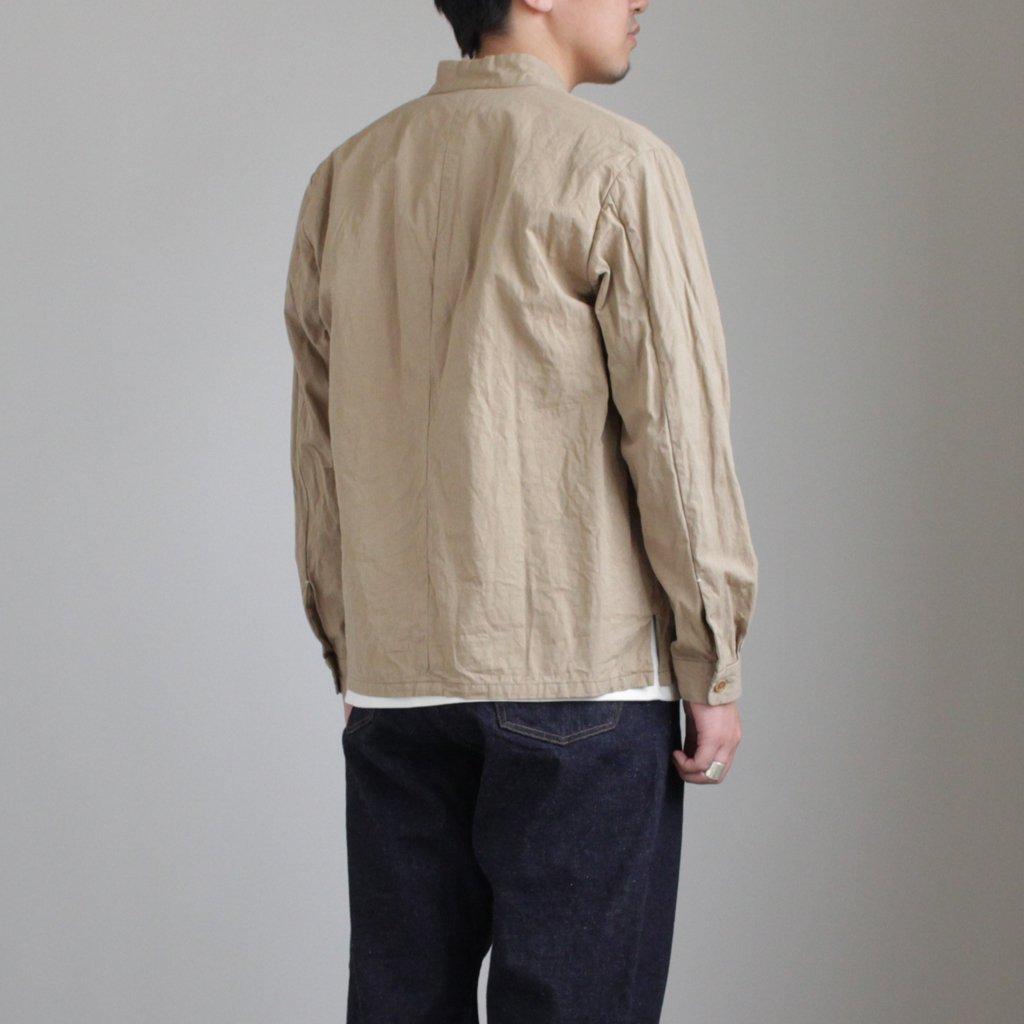 STAND COLLAR JACKET #KHAKI [48303]