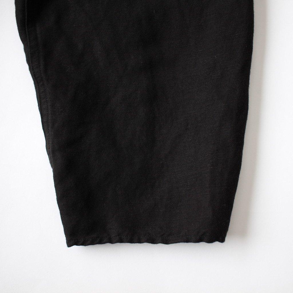 FIRMUM | フィルマム FBGSH|リネン&レーヨンブロードクロスワイドシャツワンピース #BLACK [S8-FR142SF]