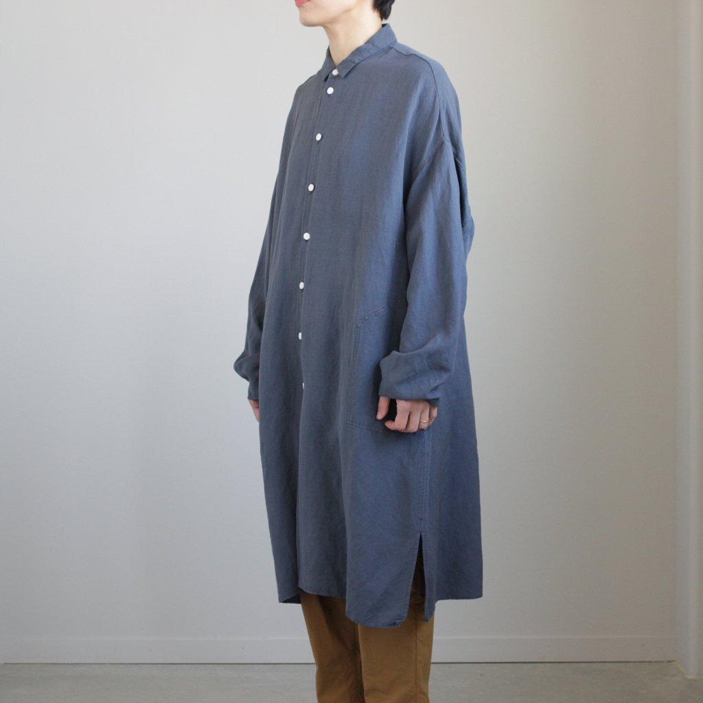 FIRMUM   フィルマム FBGSH リネン&レーヨンブロードクロスワイドシャツワンピース #SHADOW BLUE [S8-FR142SF]