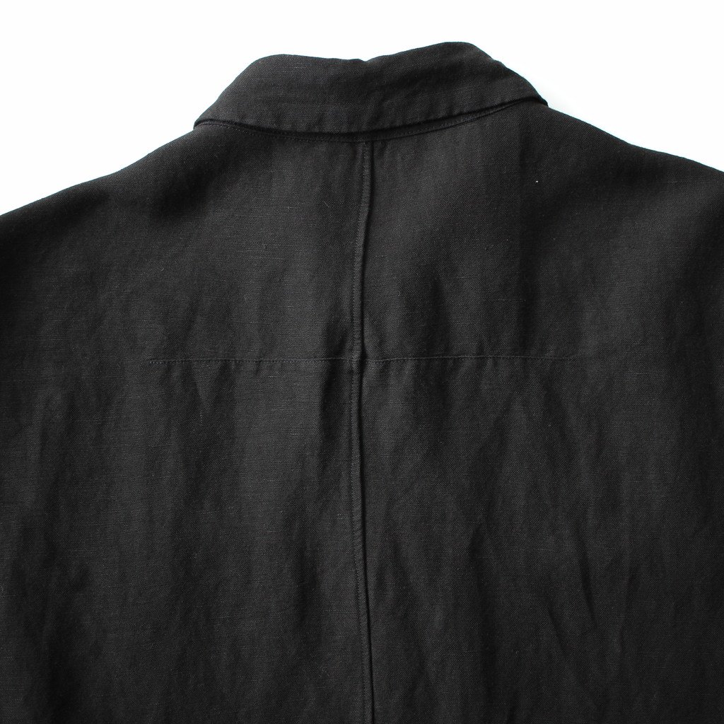 FIRMUM | フィルマム FO5SH|リネン&レーヨンブロードクロススモールカラーワイドシャツ #BLACK [S8-FR144S5]