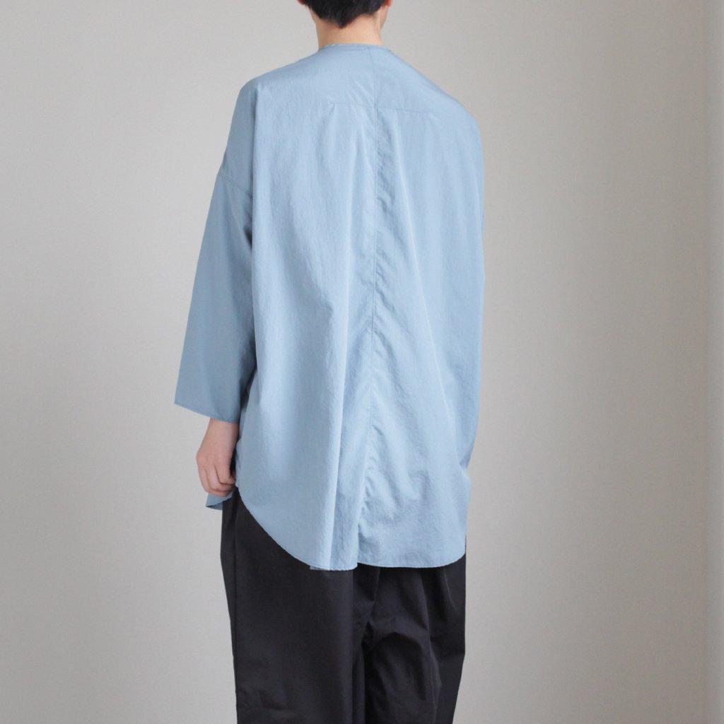 NO CONTROL AIR | ノーコントロールエアー NMKOS|ポリエステルリンクルタフタ ノーカラーシャツ #SKY BLUE [S8-NC032SF]