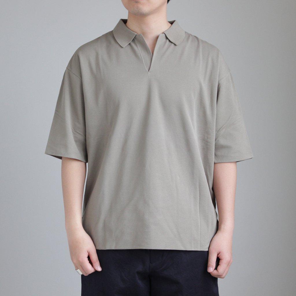 AURALEE   オーラリー HIGH GAUGE PIQUE DOUBLE CLOTH SKIPPER POLO #KHAKI [A8SP01HK]