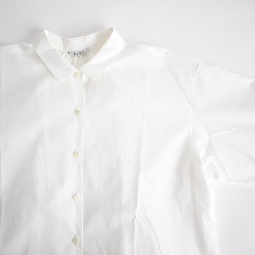 LONG SLEEVE GATHERED BLOUSE #WHITE [L1801-SH001]