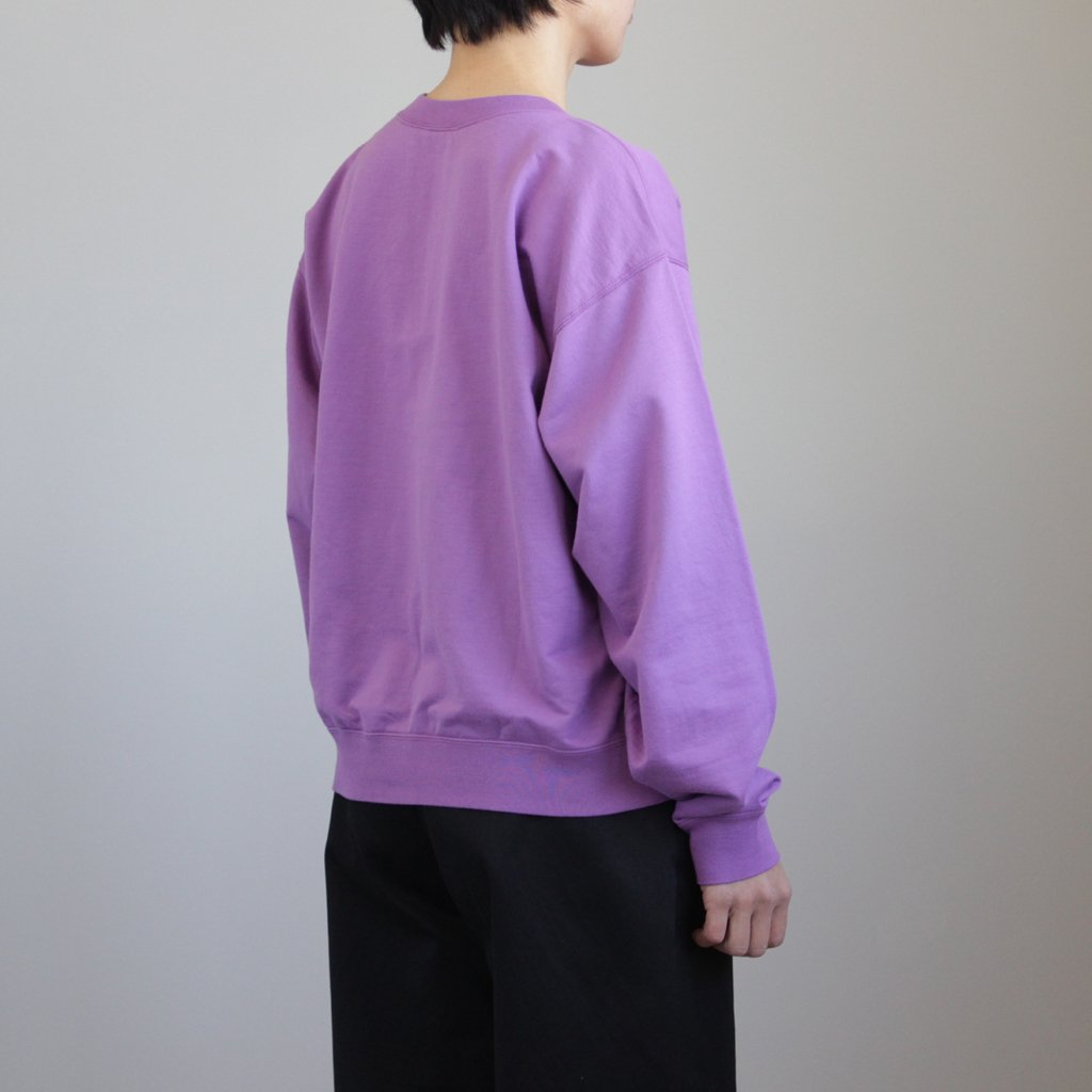 AURALEE | オーラリー SUPER HIGH GAUGE SWEAT BIG P/O #PURPLE [A8SP03NU]
