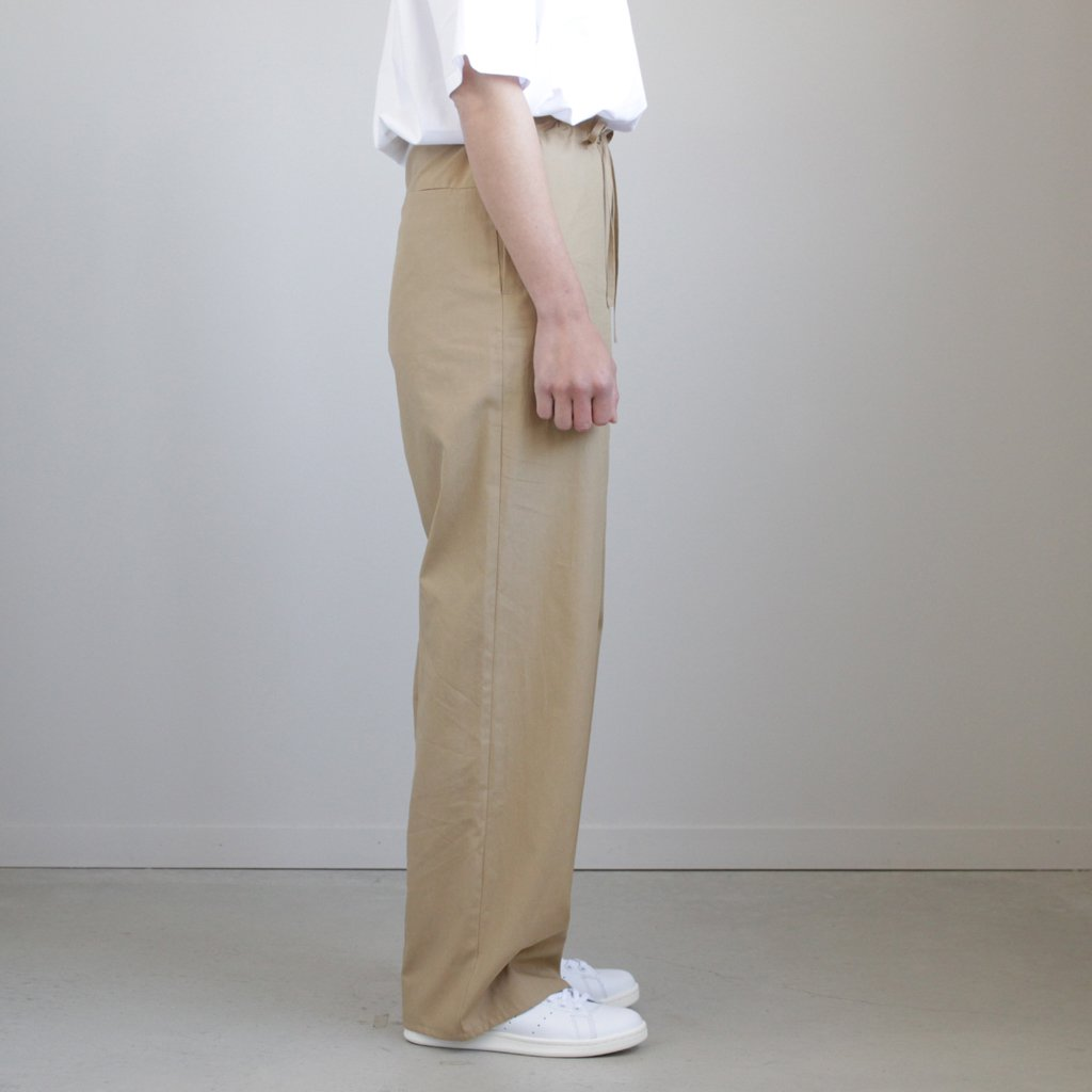 WASHED FINX TWILL EASY WIDE PANTS #BEIGE [A8SP07TN]