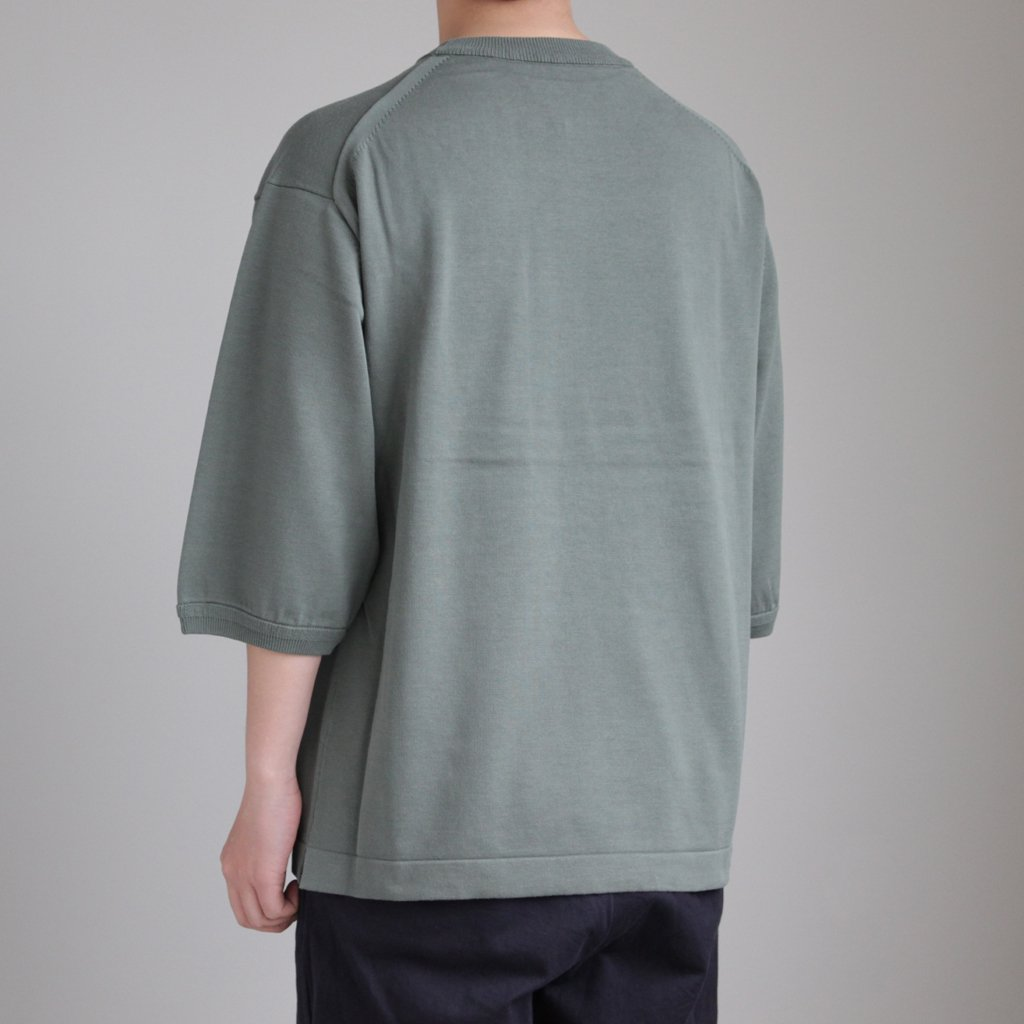 POCKET KNIT TEE 3/4 #GREEN [1801-006]