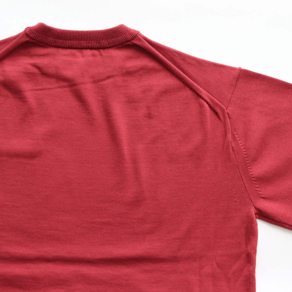crepuscule | クレプスキュール POCKET KNIT TEE 3/4 #RED [1801-006]