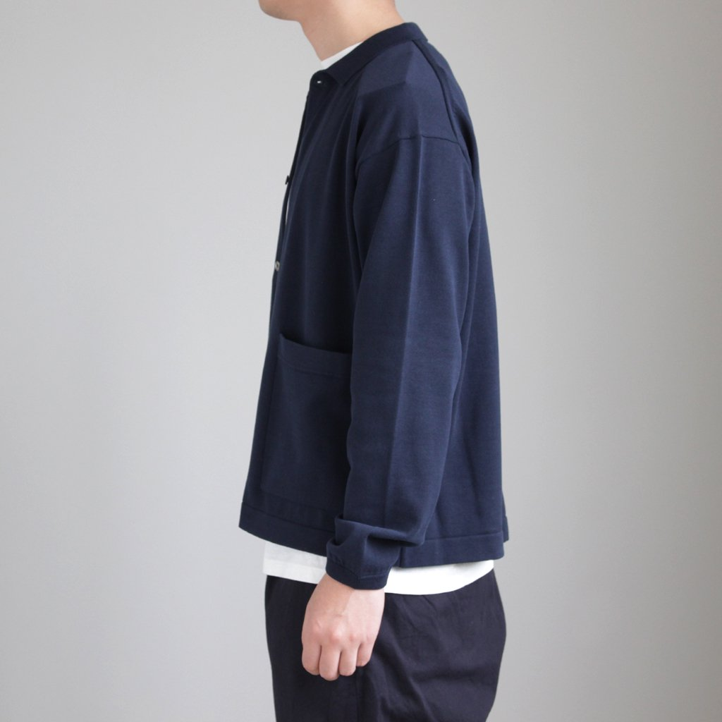 crepuscule | クレプスキュール KNIT SHIRTS #NAVY [1801-005]