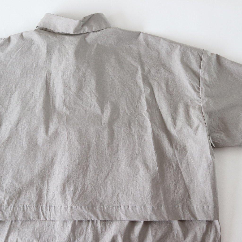 Sスリーブトレンチシャツ #GRAY [D118-T724]