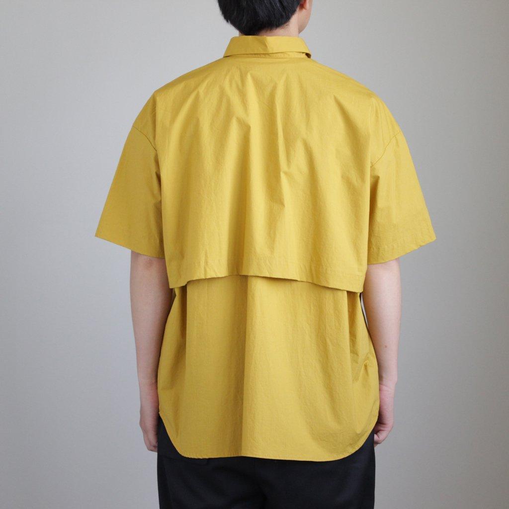 Sスリーブトレンチシャツ #MUSTARD [D118-T724]