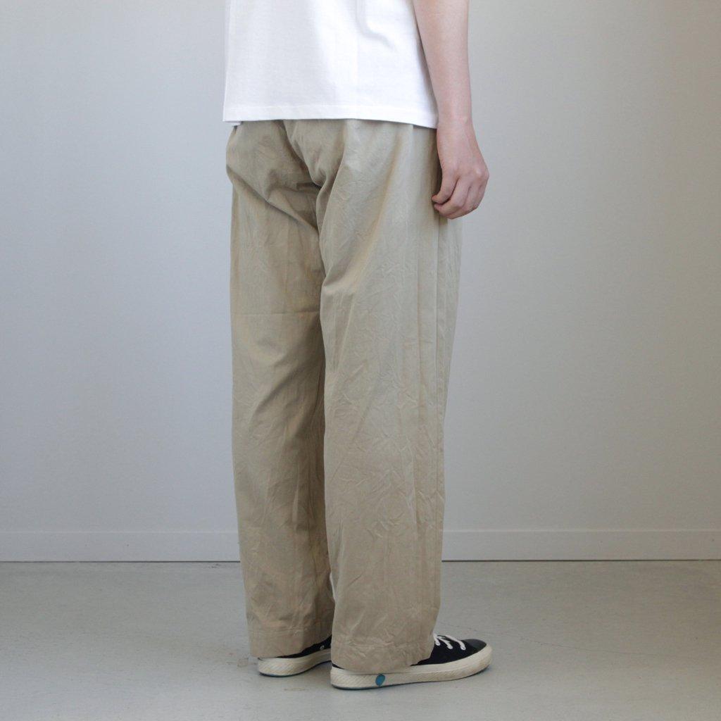 CHINO CLOTH PANTS WIDE #KHAKI [18604]