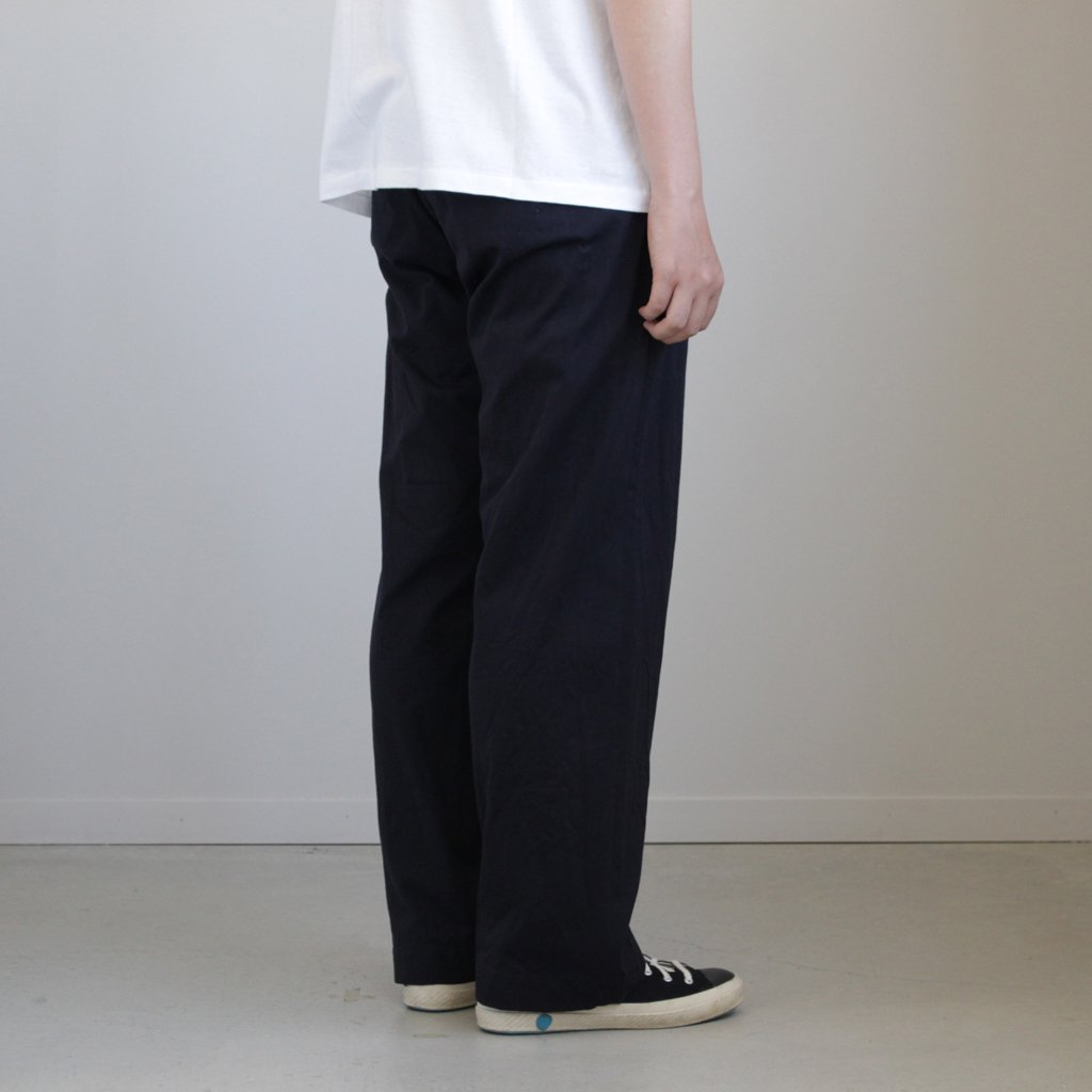 CHINO CLOTH PANTS WIDE #D.NAVY [18604]