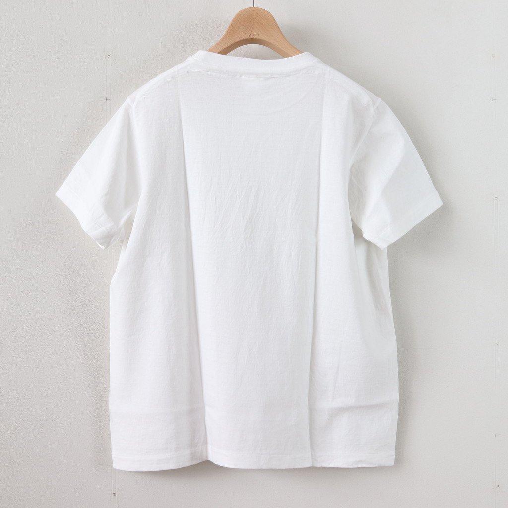 YAECA | ヤエカ 丸胴 CREW NECK TEE KEN KAGAMI - SMART CHIPS #WHITE [88007]
